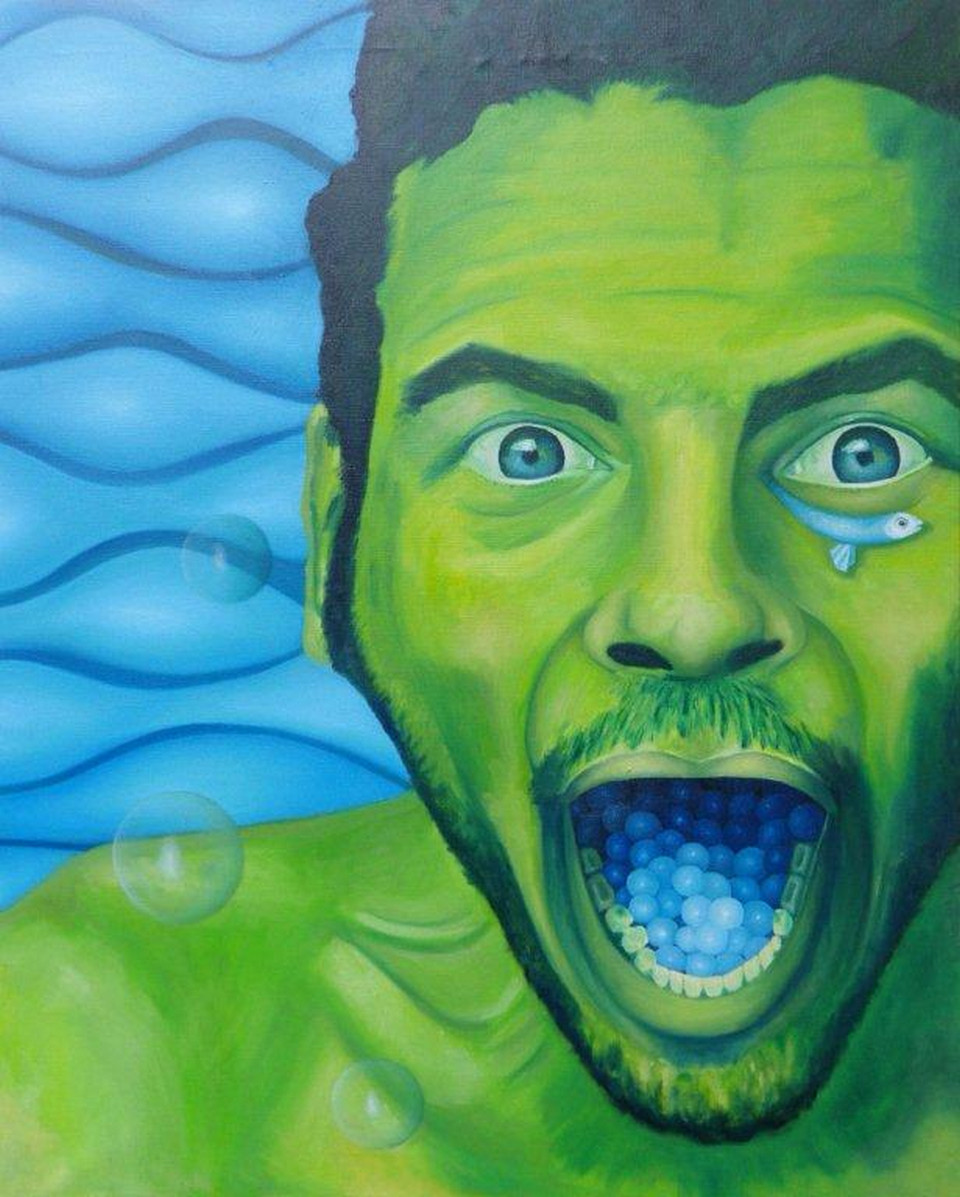 Neptuno. Oil on canvas. 64 x 80. 2012