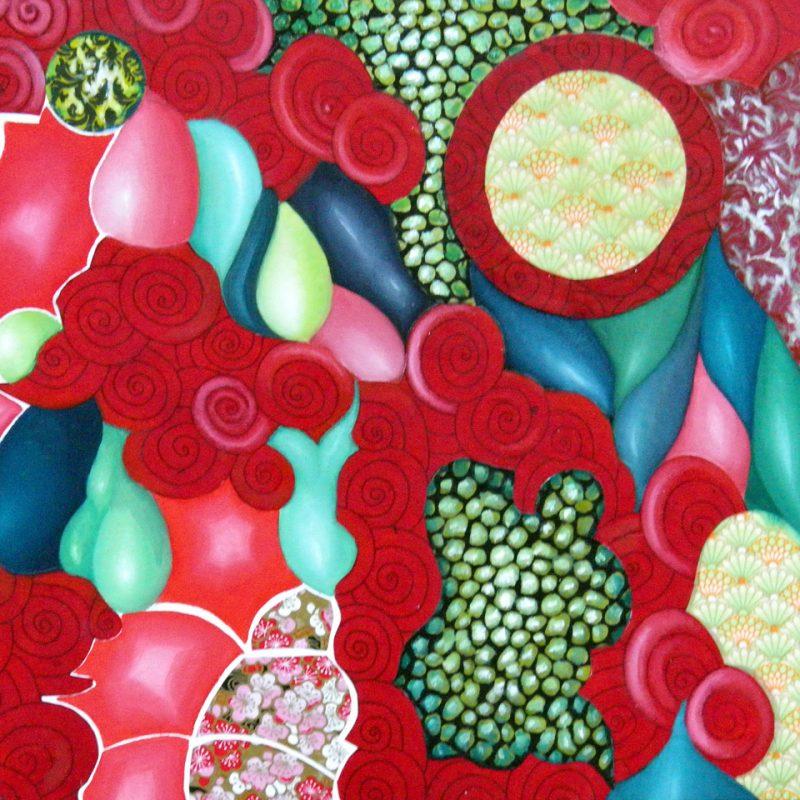 Naturaleza viva I.30 x 30 cm. Óleo y papel sobre tabla